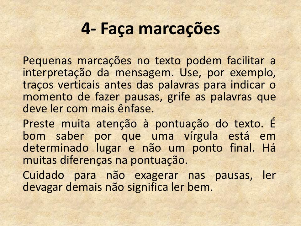 4- Faça marcações