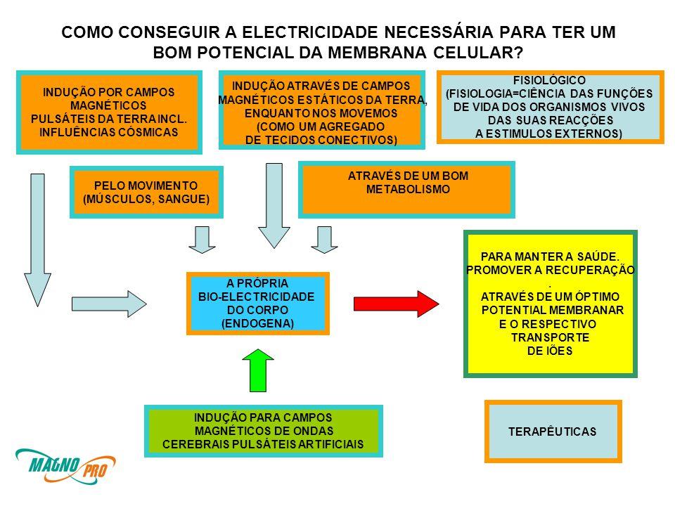 COMO CONSEGUIR A ELECTRICIDADE NECESSÁRIA PARA TER UM BOM POTENCIAL DA MEMBRANA CELULAR