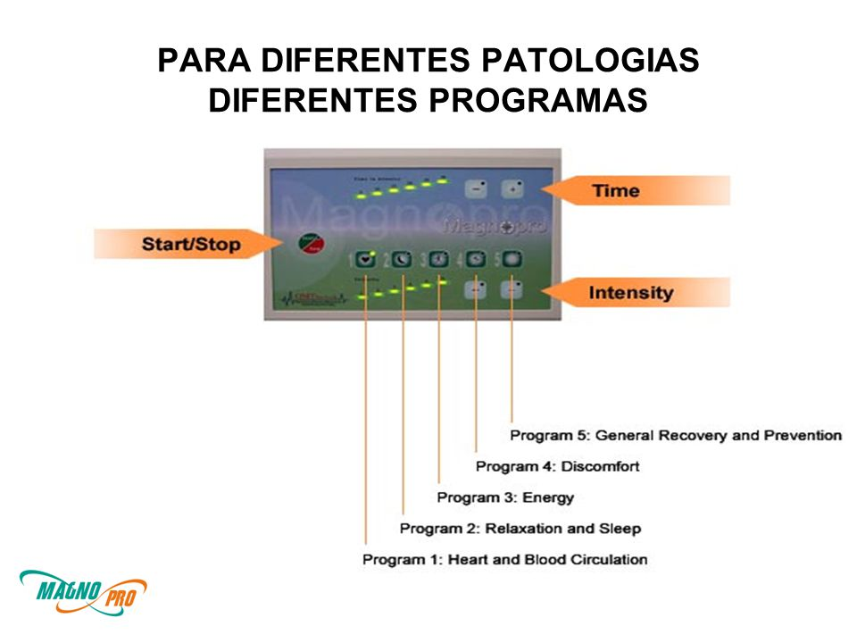 PARA DIFERENTES PATOLOGIAS DIFERENTES PROGRAMAS