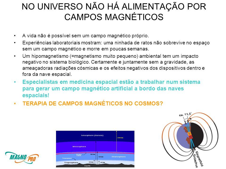 NO UNIVERSO NÃO HÁ ALIMENTAÇÃO POR CAMPOS MAGNÉTICOS