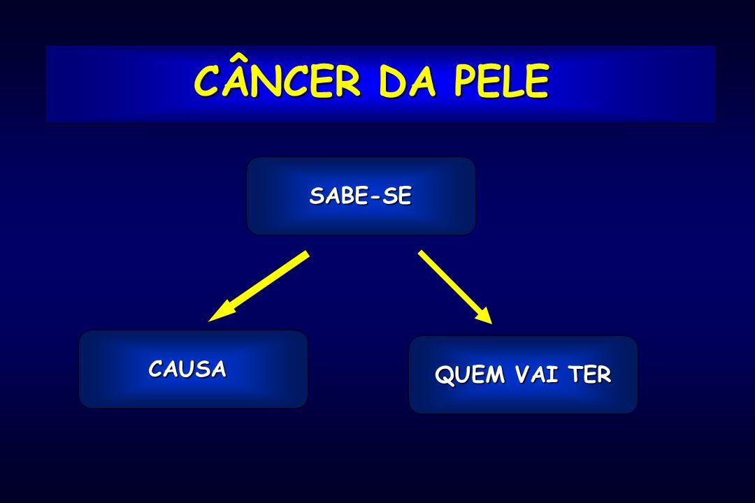 CÂNCER DA PELE SABE-SE CAUSA QUEM VAI TER