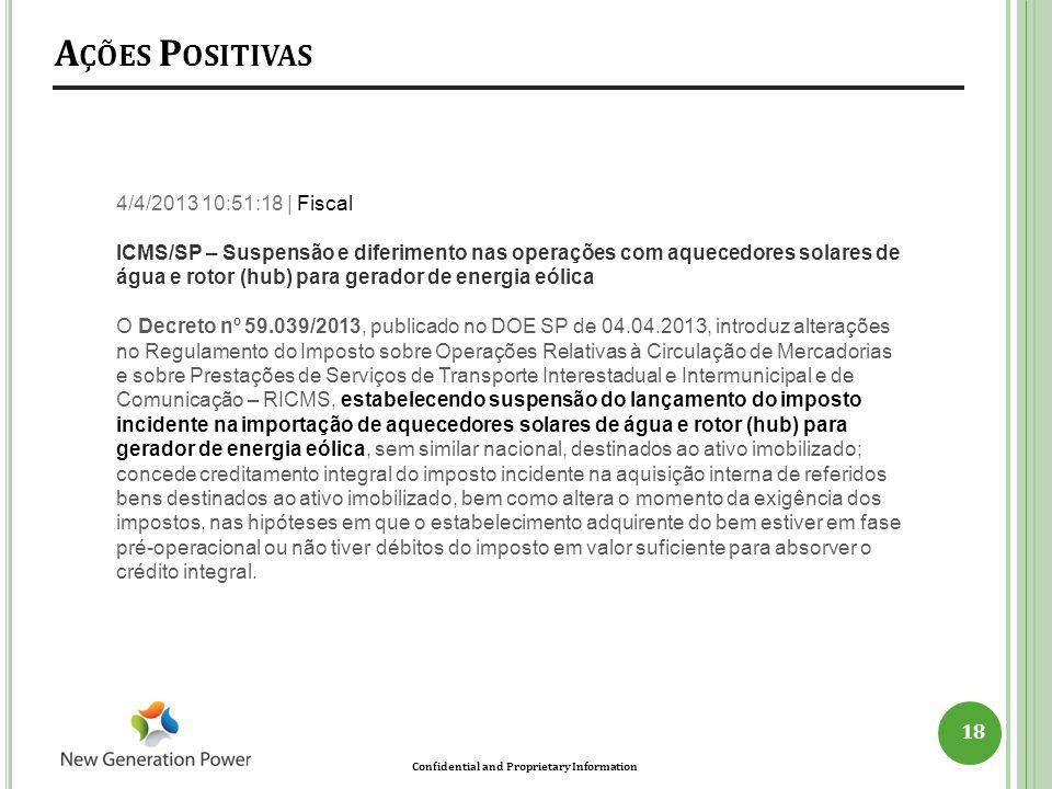 Ações Positivas 4/4/2013 10:51:18 | Fiscal