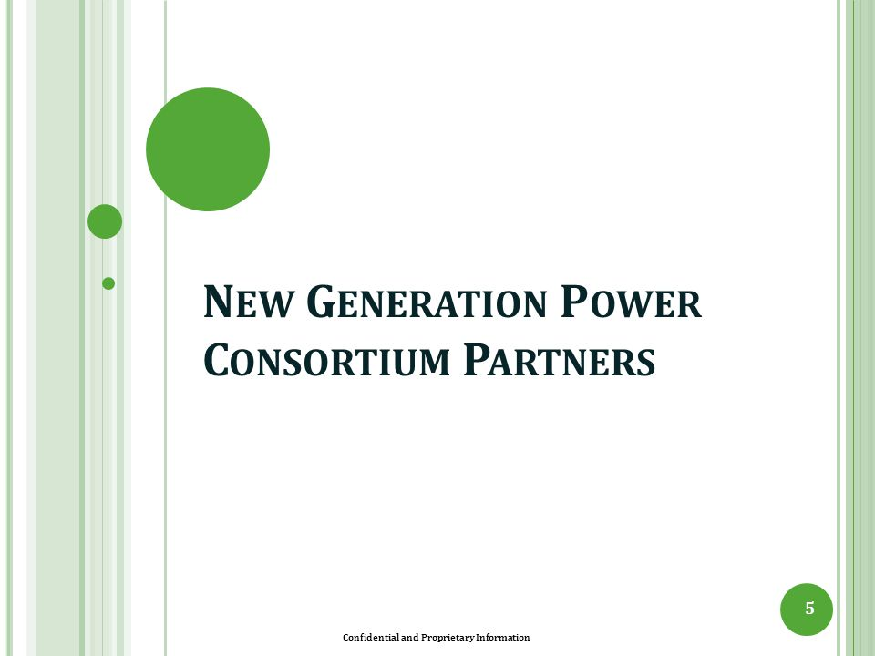 New Generation Power Consortium Partners
