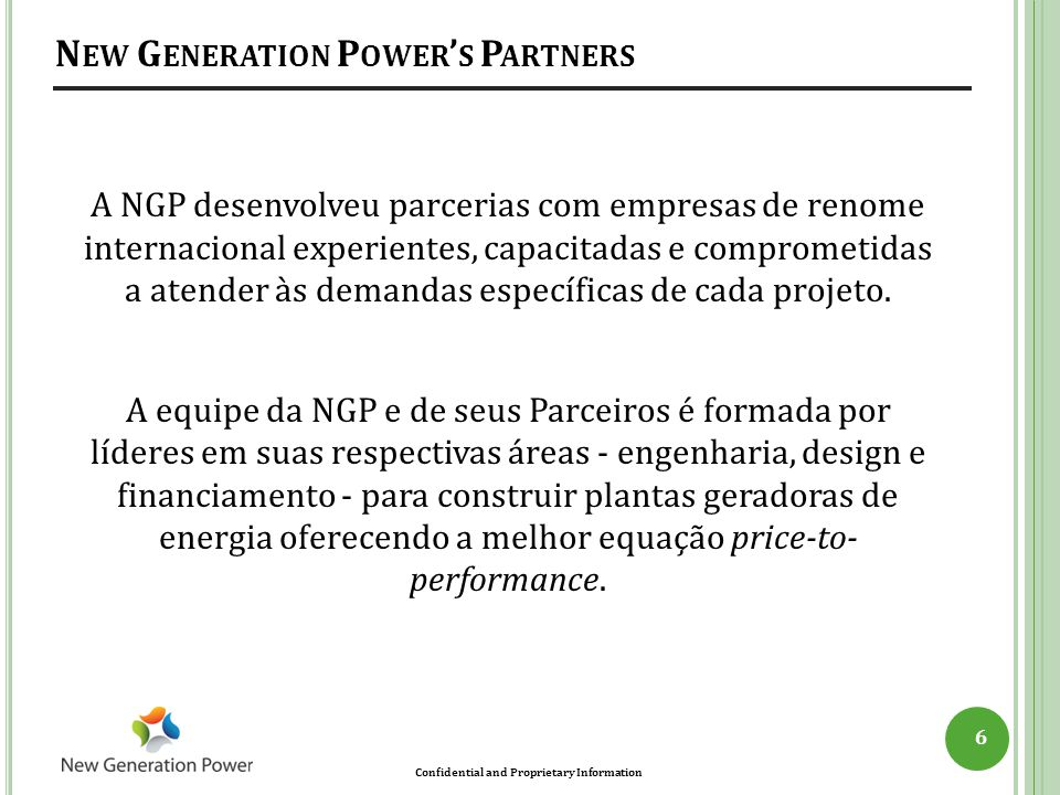New Generation Power's Partners