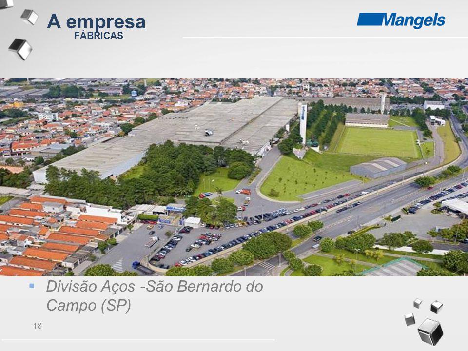 A empresa FÁBRICAS Divisão Aços -São Bernardo do Campo (SP)