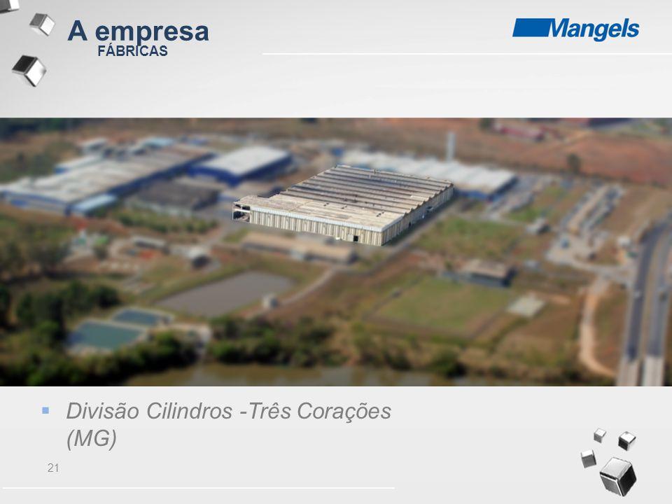 A empresa FÁBRICAS Divisão Cilindros -Três Corações (MG)