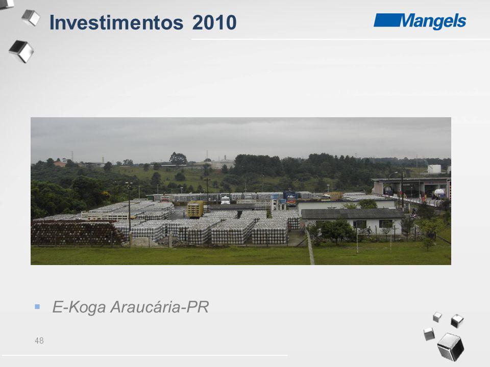 Investimentos 2010 E-Koga Araucária-PR