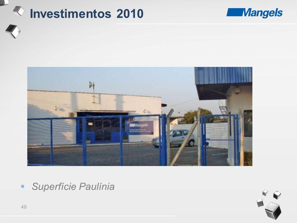 Investimentos 2010 Superfície Paulínia