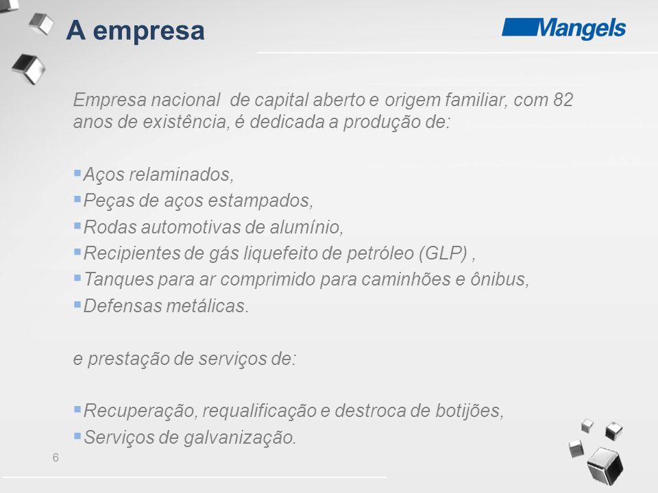 A empresa Empresa nacional de capital aberto e origem familiar, com 82 anos de existência, é dedicada a produção de:
