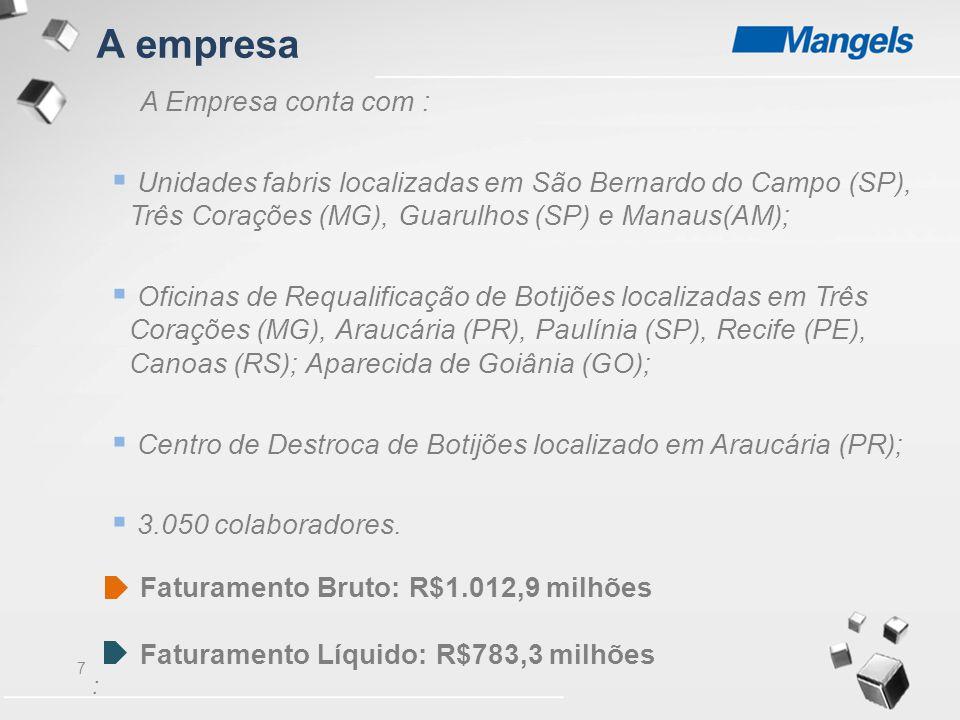 A empresa A Empresa conta com :