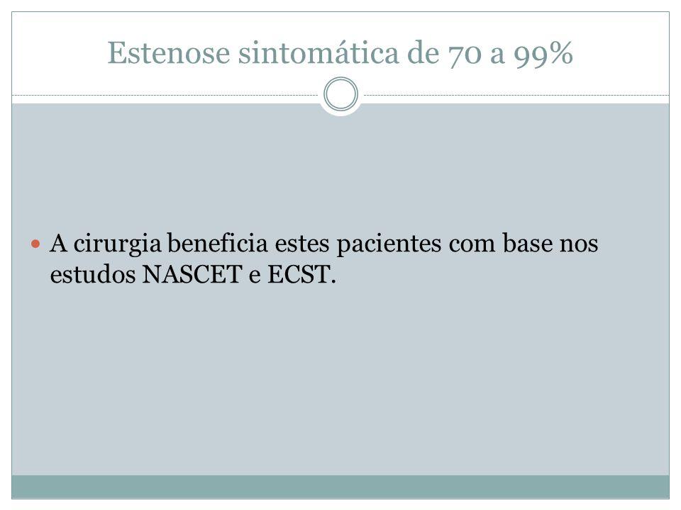 Estenose sintomática de 70 a 99%