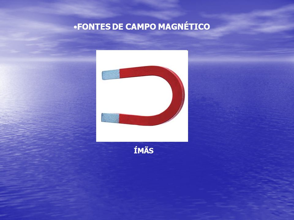 FONTES DE CAMPO MAGNÉTICO