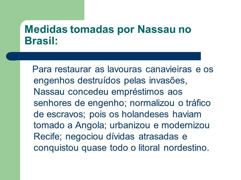 Medidas tomadas por Nassau no Brasil: