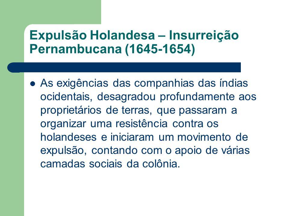 Expulsão Holandesa – Insurreição Pernambucana (1645-1654)