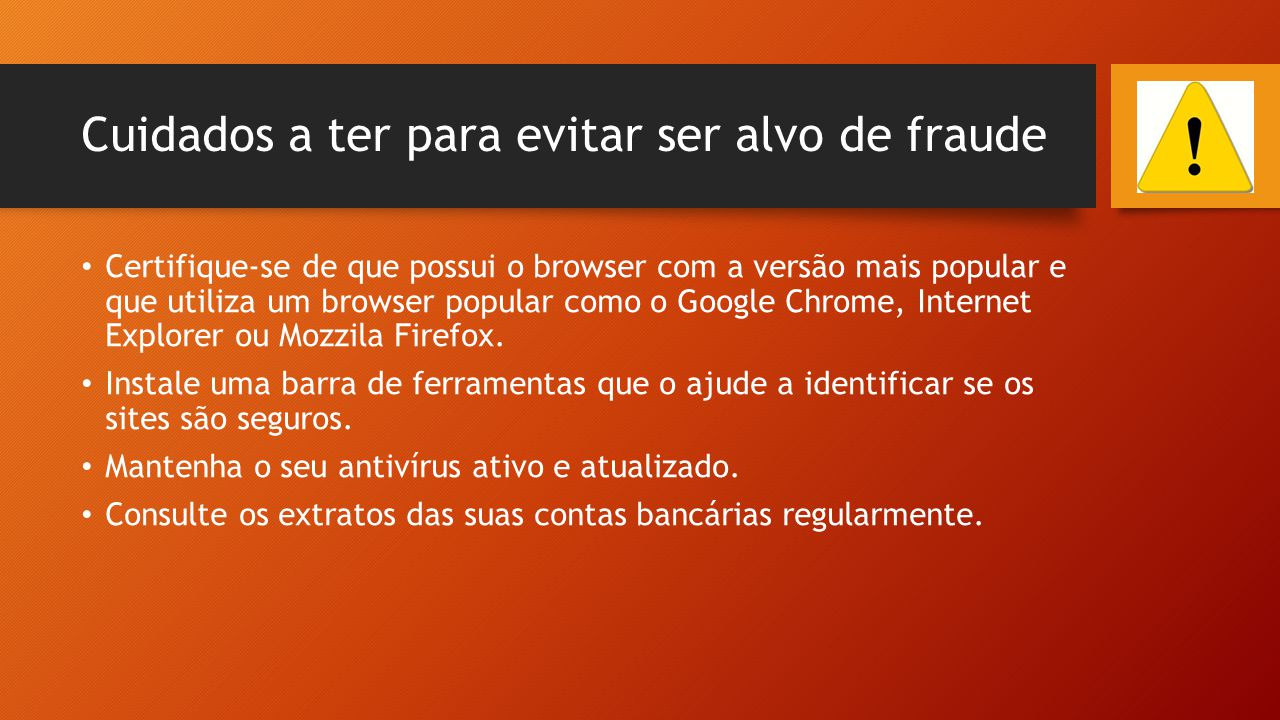 Cuidados a ter para evitar ser alvo de fraude