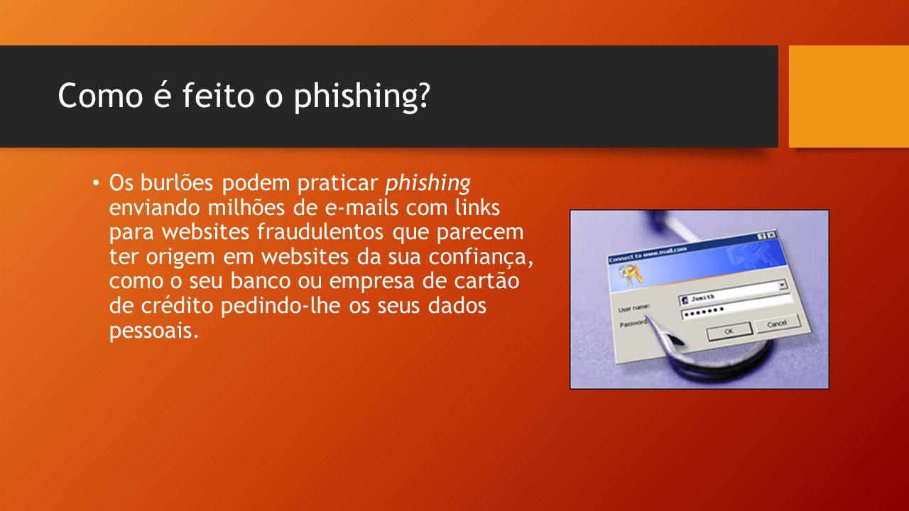 Como é feito o phishing