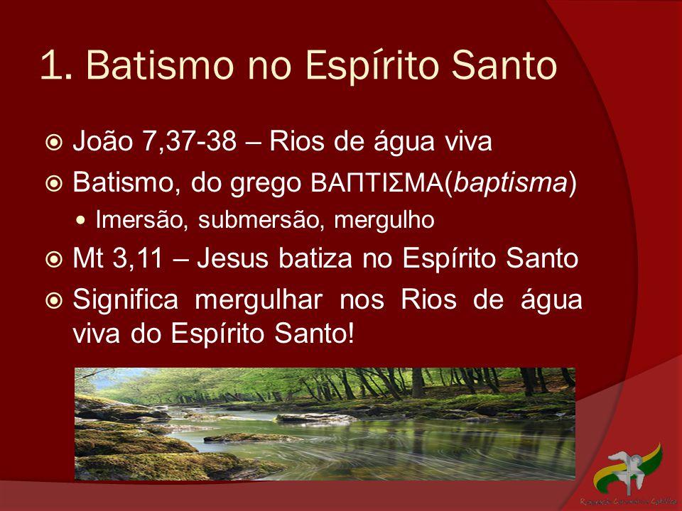 1. Batismo no Espírito Santo