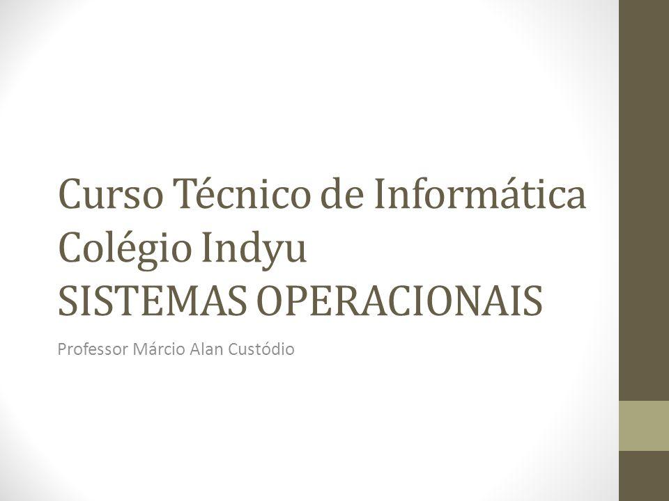 Curso Técnico de Informática Colégio Indyu SISTEMAS OPERACIONAIS