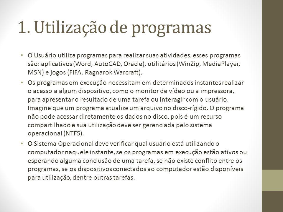 1. Utilização de programas