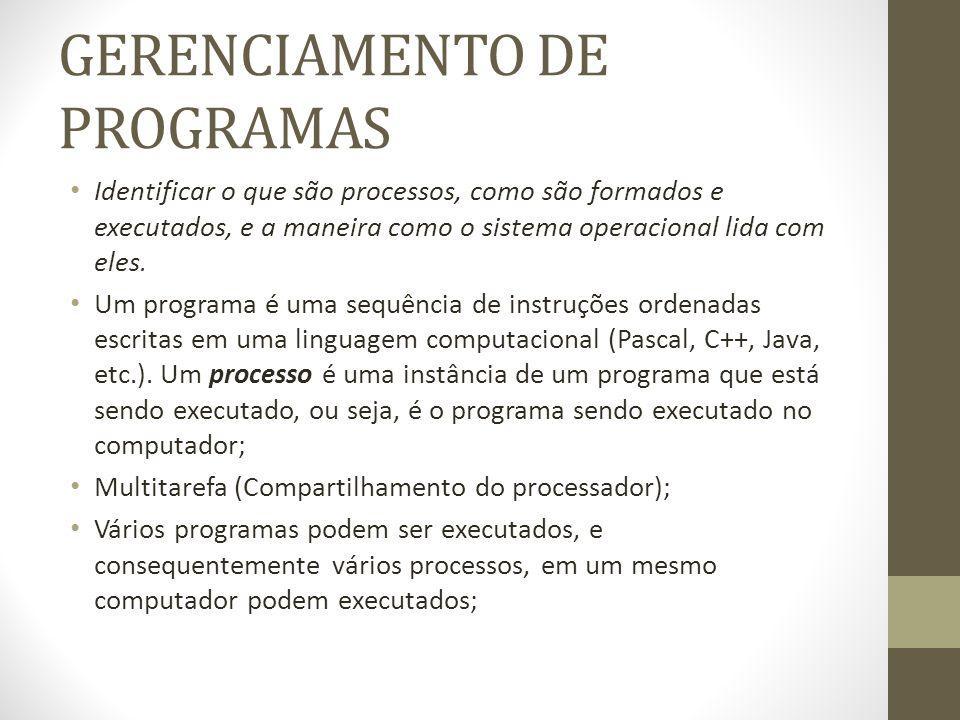GERENCIAMENTO DE PROGRAMAS