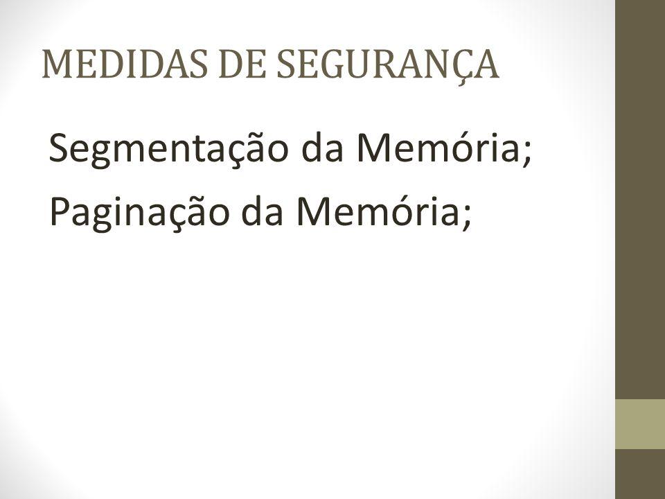 Segmentação da Memória; Paginação da Memória;