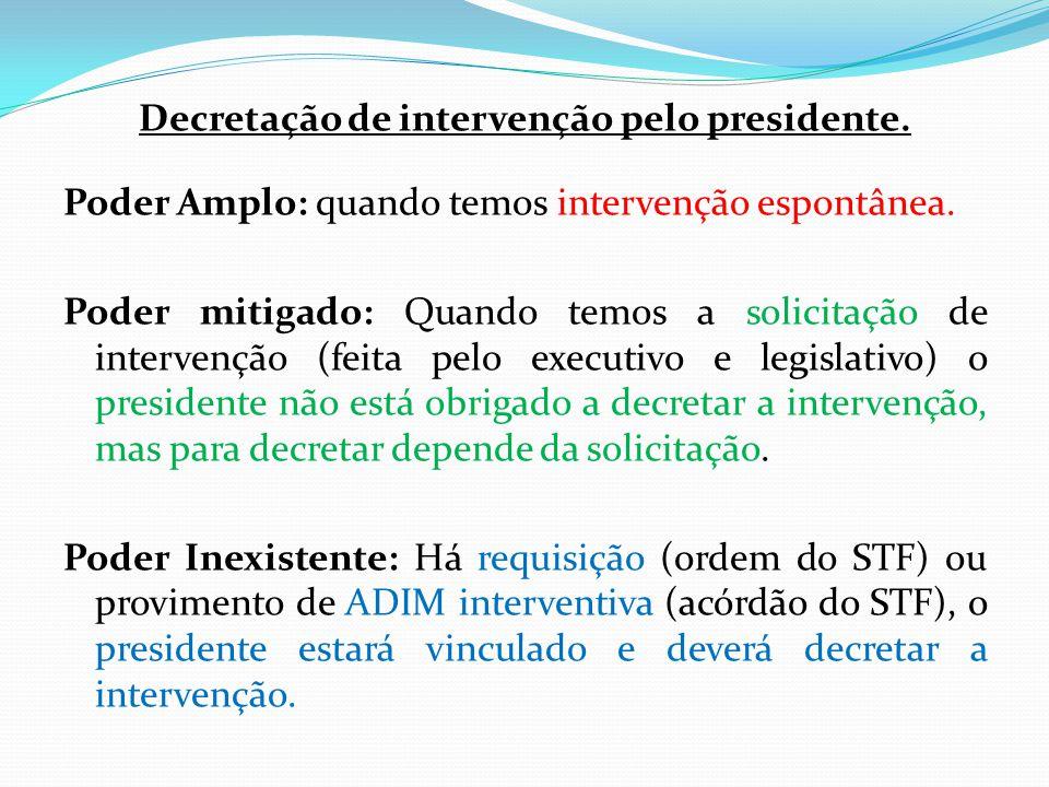 Decretação de intervenção pelo presidente