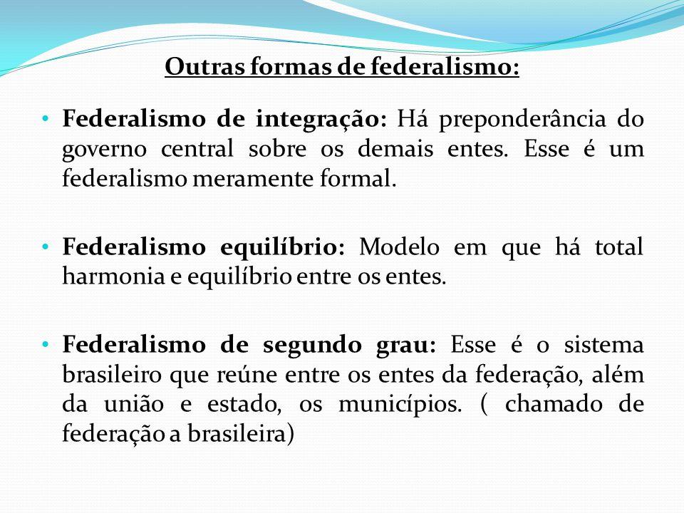 Outras formas de federalismo: