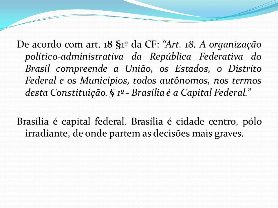 De acordo com art. 18 §1º da CF: Art. 18