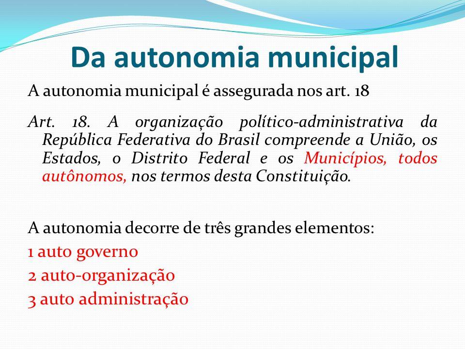 Da autonomia municipal