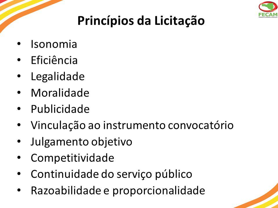Princípios da Licitação