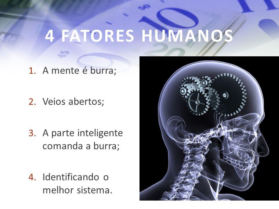 4 FATORES HUMANOS A mente é burra; Veios abertos;