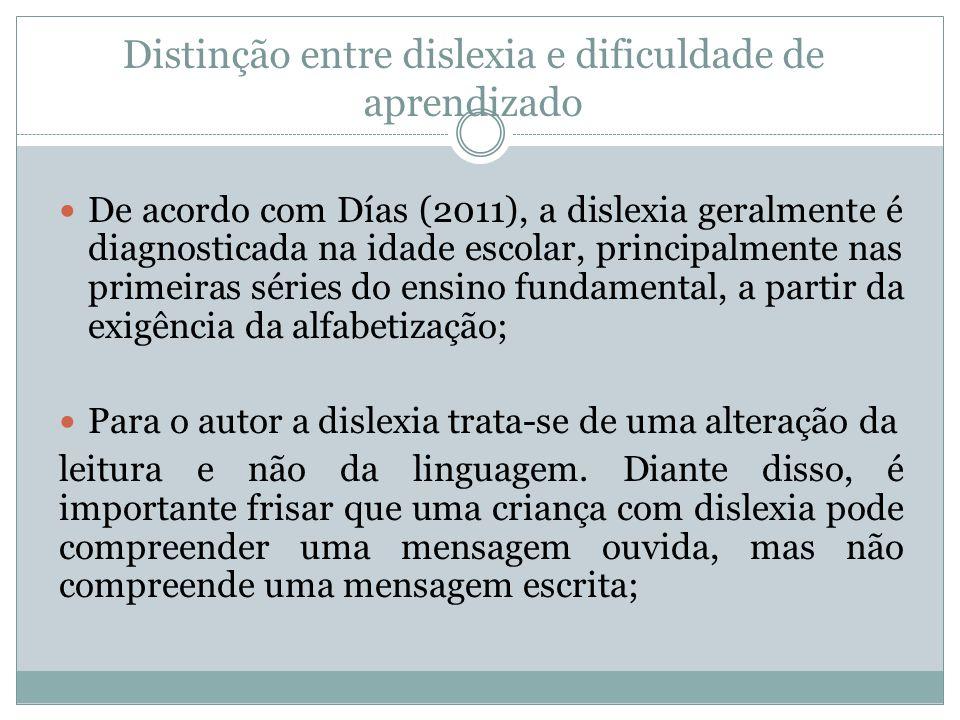 Distinção entre dislexia e dificuldade de aprendizado