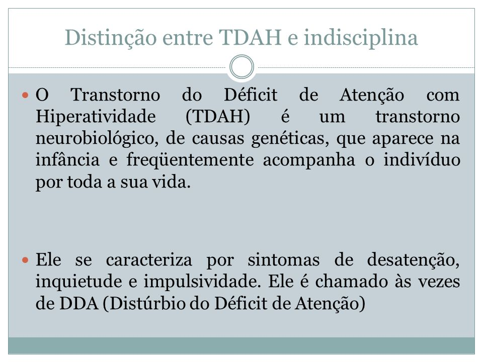 Distinção entre TDAH e indisciplina