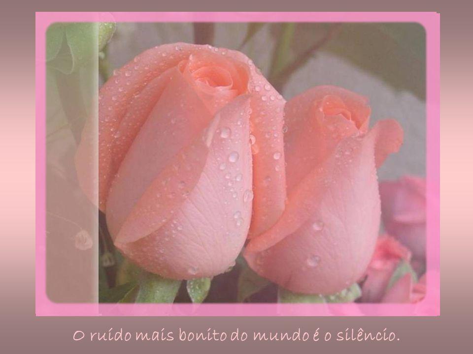 O ruído mais bonito do mundo é o silêncio.