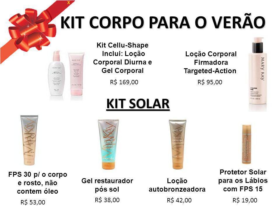 KIT CORPO PARA O VERÃO KIT SOLAR Kit Cellu-Shape