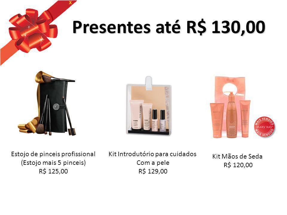 Presentes até R$ 130,00 Estojo de pinceis profissional