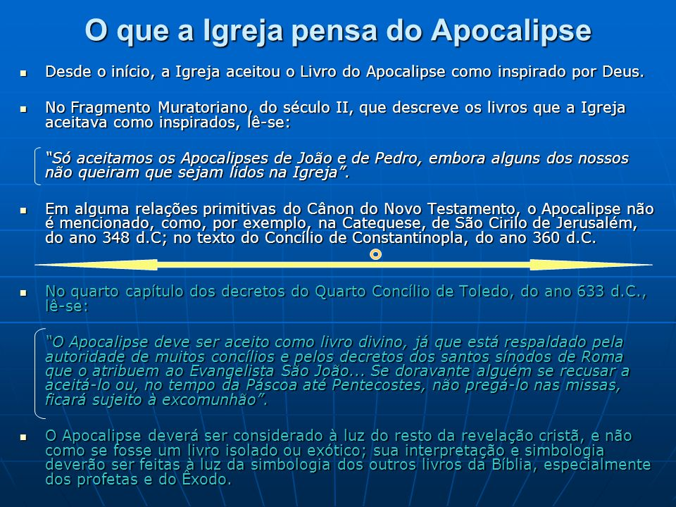 O que a Igreja pensa do Apocalipse