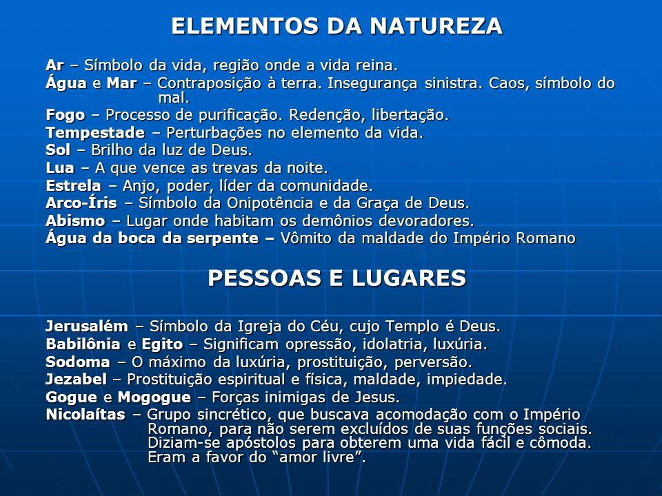 ELEMENTOS DA NATUREZA PESSOAS E LUGARES