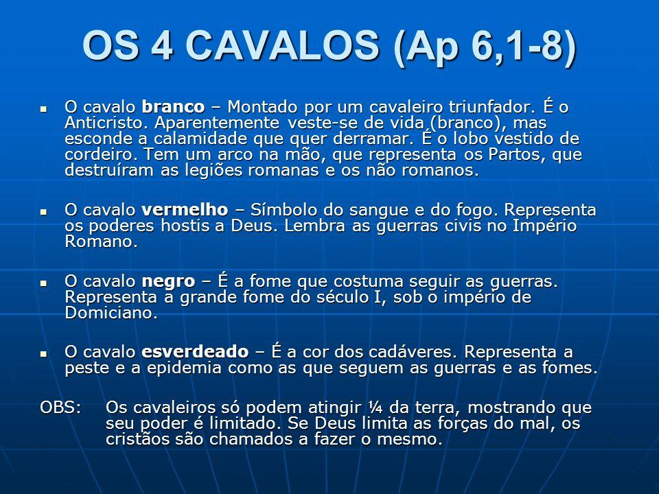OS 4 CAVALOS (Ap 6,1-8)