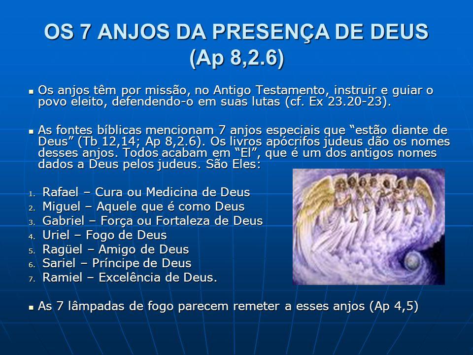 OS 7 ANJOS DA PRESENÇA DE DEUS (Ap 8,2.6)