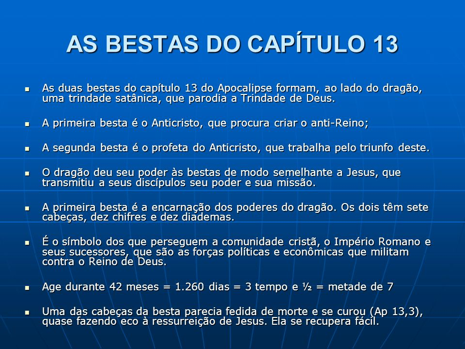 AS BESTAS DO CAPÍTULO 13