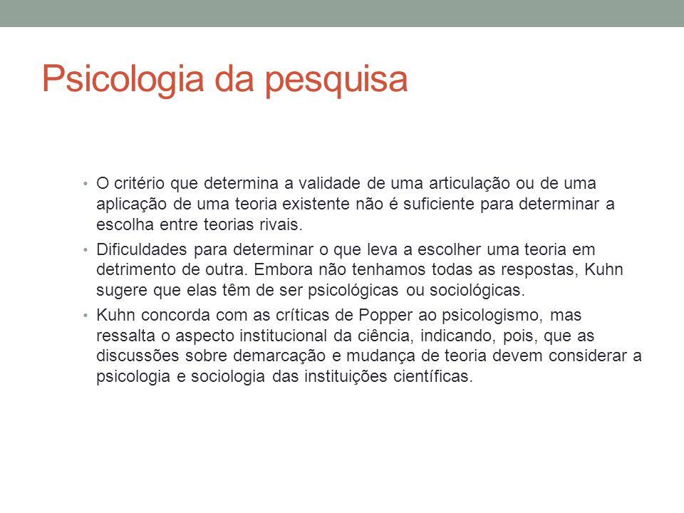 Psicologia da pesquisa