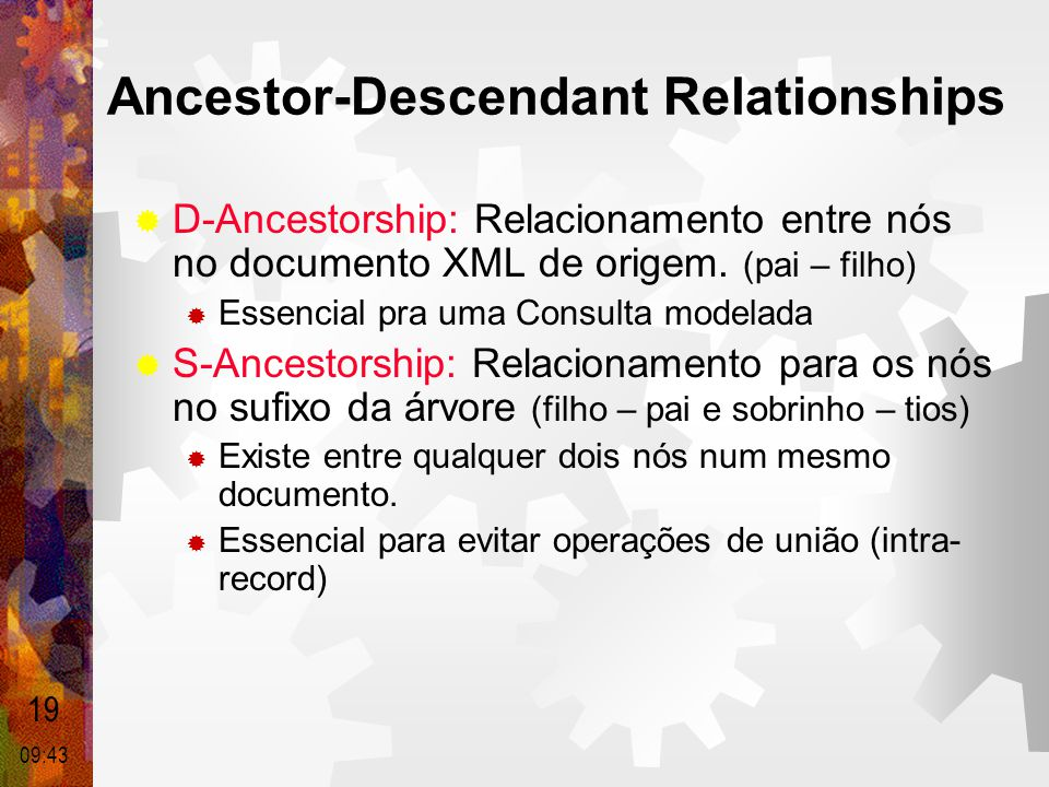 Ancestor-Descendant Relationships