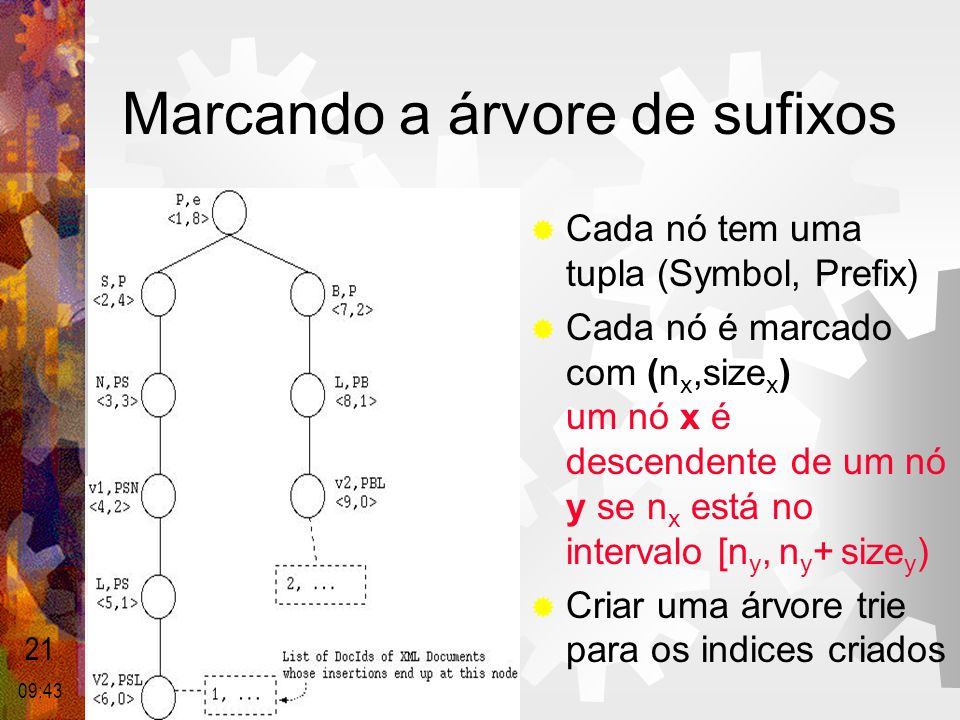 Marcando a árvore de sufixos
