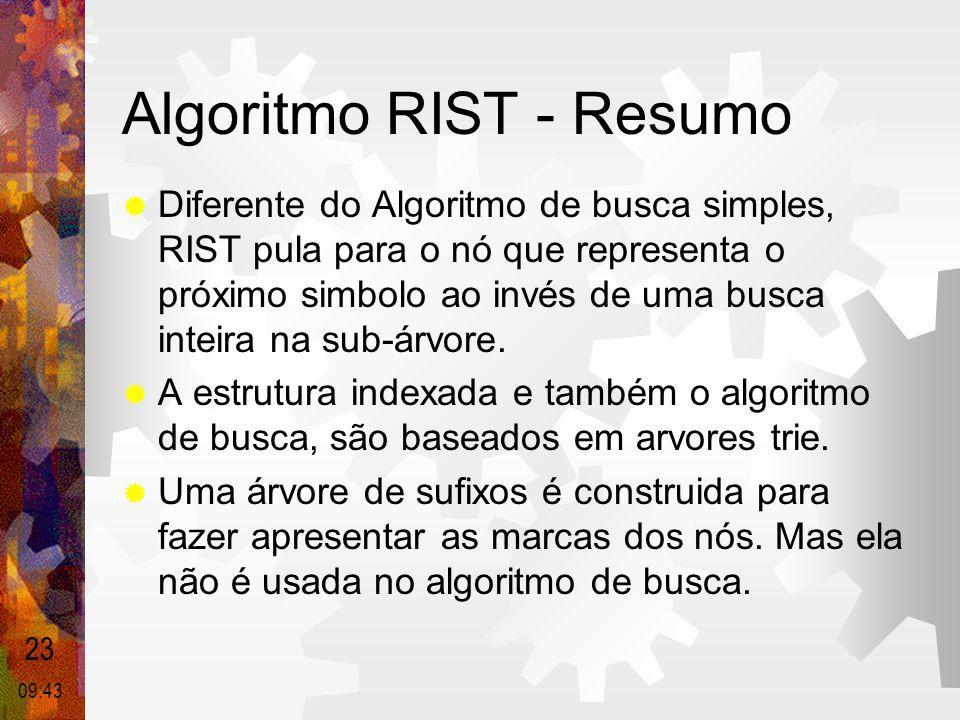 Algoritmo RIST - Resumo