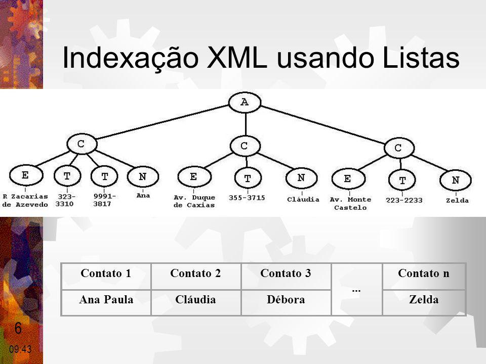 Indexação XML usando Listas