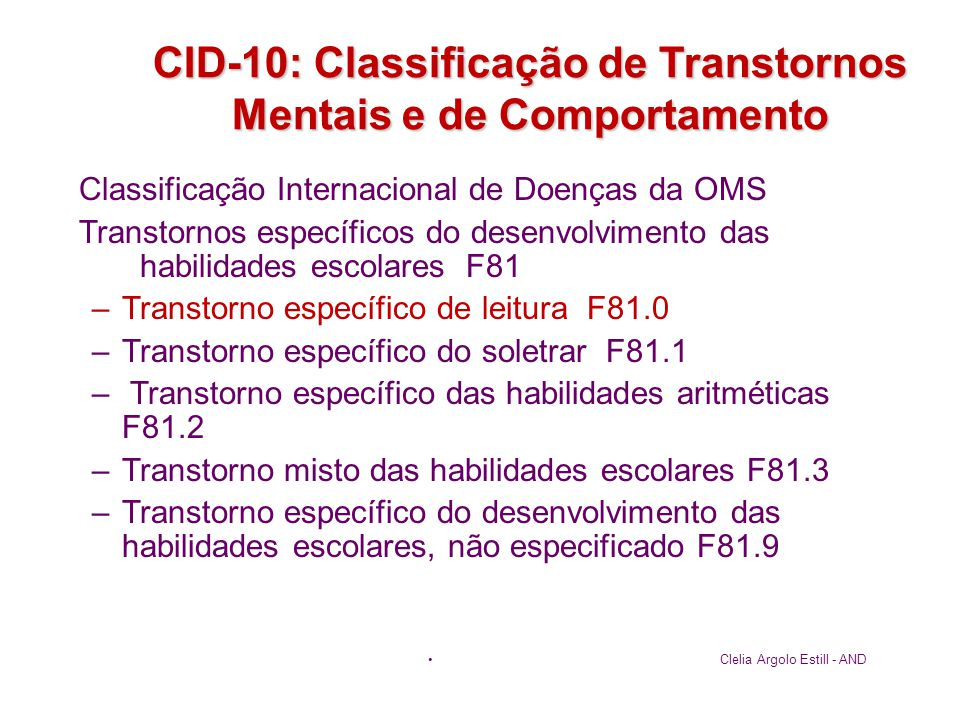 CID-10: Classificação de Transtornos Mentais e de Comportamento