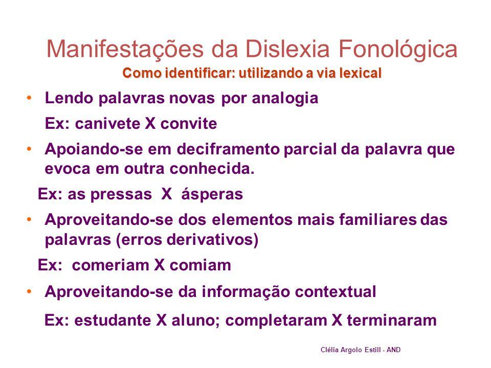 Como identificar: utilizando a via lexical