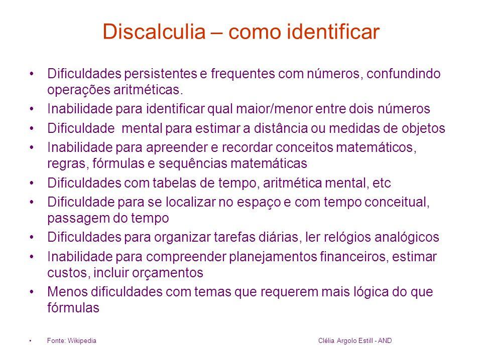 Discalculia – como identificar