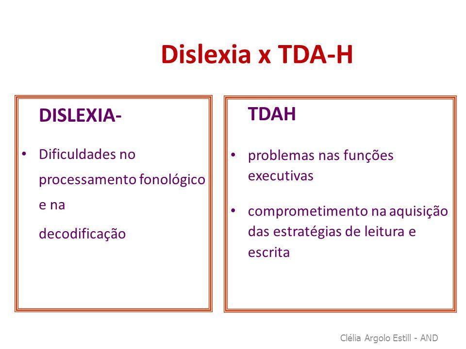 Dislexia x TDA-H DISLEXIA- TDAH